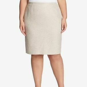 Calvin Klein tweed and sequin pencil skirt